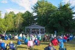 concert goers at Village Park