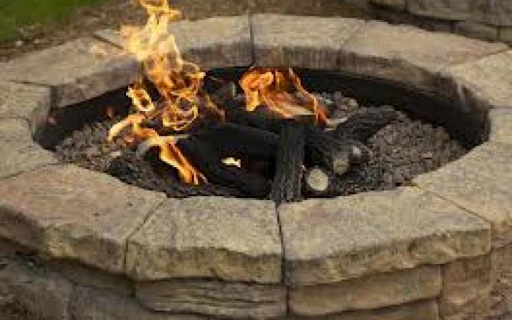 stone recreational fire pit